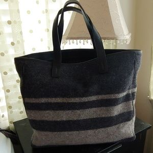 Coach Vintage USA Made Wool & Leather Tote